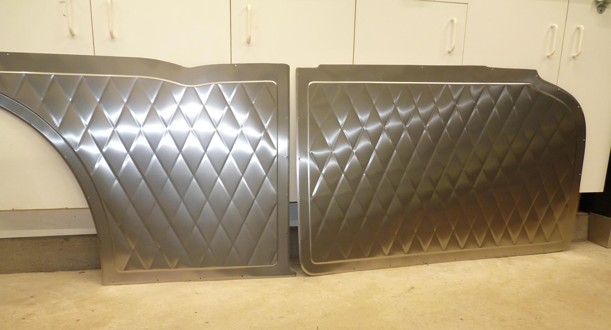 Big Wig Race Cars Aluminum Door Panels Gm Ford Mazda Opel 1966 Chevy C10 1953 57 2 Sedan Set